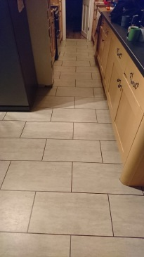 LVT Tile with Feature Strips